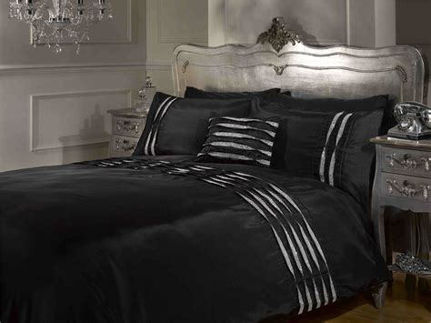 black pintuck comforter crystal diamante pintuck detail white black silver duvet