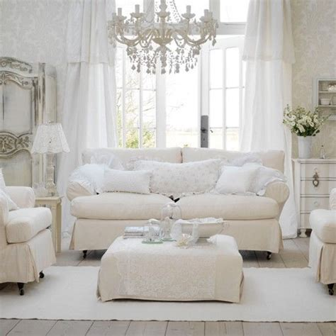 White Shabby Chic Rooms by All White Shabby Chic Living Room Pictures Photos And