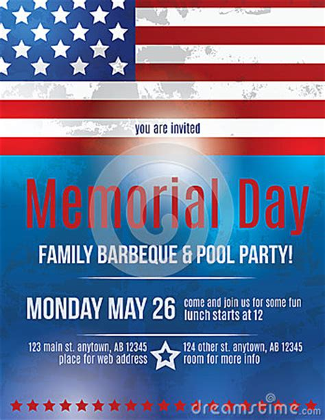 Memorial Day Flyer Template Stock Vector Image 39989580 American Flag Flyer Template