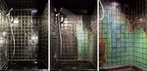 Changing Color Shower by Cold Color Changing Tile Creates Transforming