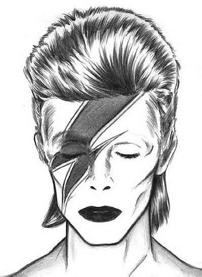 imagenes ziggy amor aladdin sane bowie drawing by stardust art pinterest