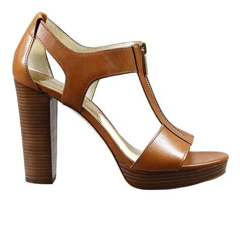 micheal kors high heels michael kors heels in brown lyst