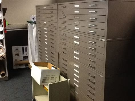 used flat file cabinet mayline 5 flat file cabinets office filing