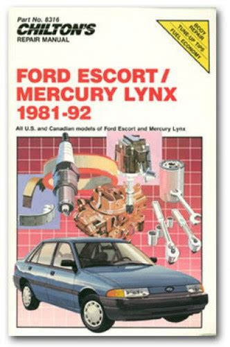 service and repair manuals 1987 mercury lynx parental controls chilton ford escort and mercury lynx 1981 92 repair manual