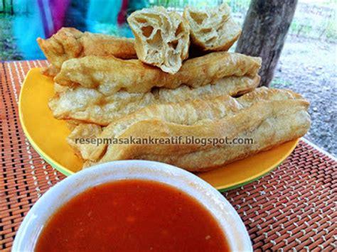 Bantal Makanan Bubur Ayam resep cakwe goreng adonan mudah praktis dan saus pedas