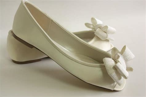 comfortable wedding shoes ivory ivory wedding shoes flats large bows choose from 100
