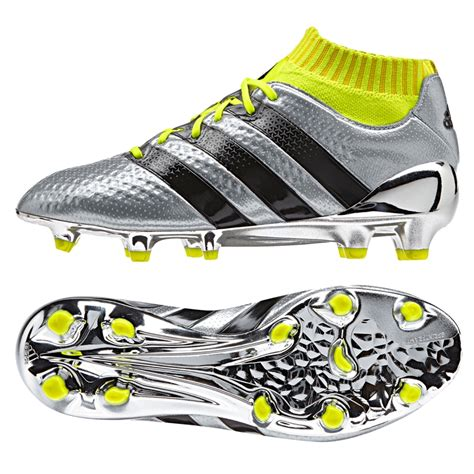 Soccer Cleats Adidas Ace 16 1 Primeknit Youth Fg Soccer Cleats Silver