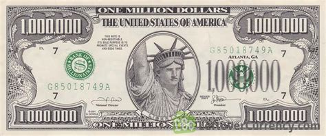 1 million dollar one million dollar bill usa novelty banknotes leftover