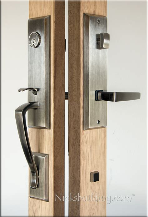 door with 3 locks 3 point lock hardware multipoint lock trim for