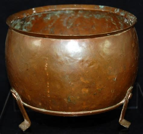 Copper Planters by Antique Arts Crafts Footed Copper Planter Hammered W