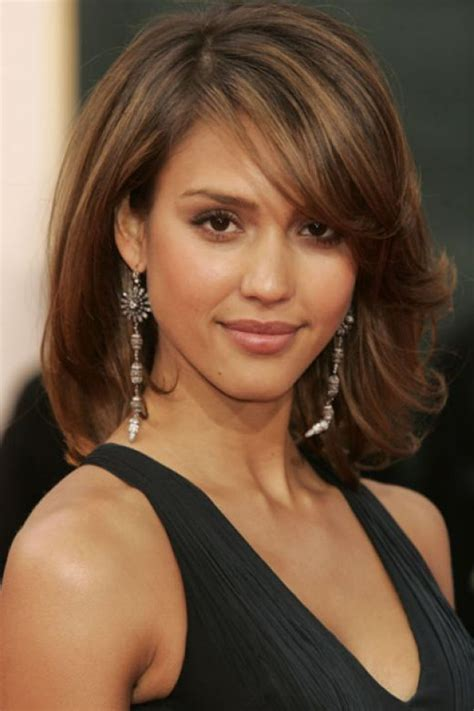 hairstyles for thin haired women over 55 shoulder length hairstyles with bangs for thick hair