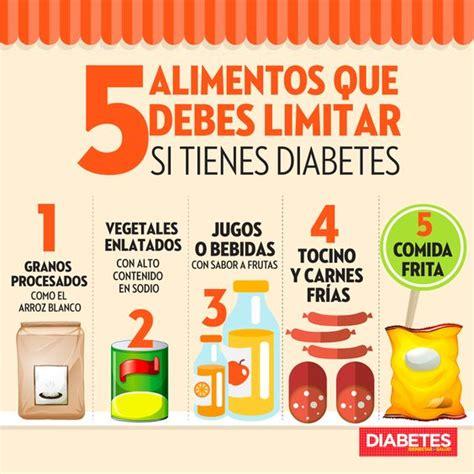 alimentos  debes limitar  tienes diabetes