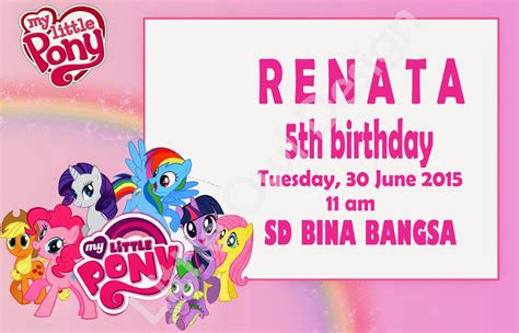 Hasbro Pony Isi 2 kartu undangan ulang tahun pony daftar update