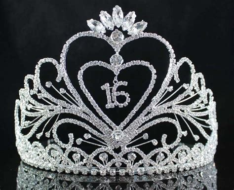 Sweety Gold L 28 sweet sixteen 16 birthday rhinestone tiara crown w