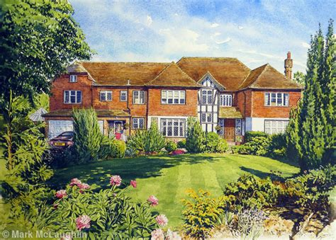 House Portraits by House Portrait Northwood Hertfordshire Watercolour
