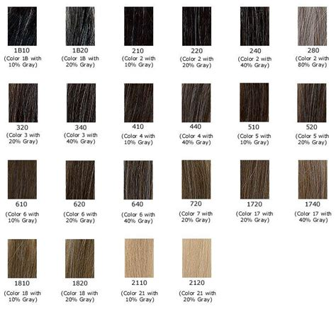 colors of grey gray hair color shades color chart of gray shades hair