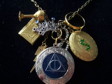 harry potter horcrux deathly hallows necklace jewelry
