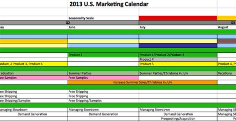 Yearly Marketing Calendar Template Yearly Calendar Template Marketing Promotional Calendar Template