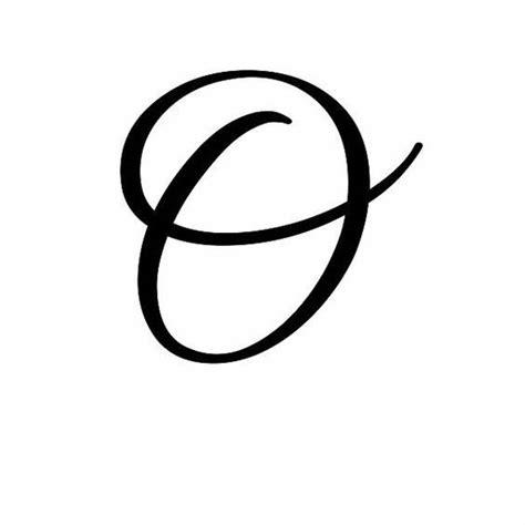 Cursive Letter O