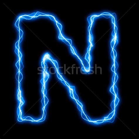 electric lightning letter  font stock photo  gunnar
