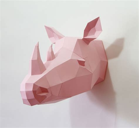 geometric paper animal sculptures by wolfram kffmeyer
