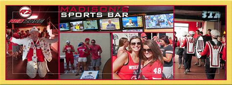 sports madison sports bar banner red zone madison