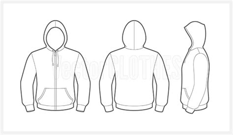 zip hoodie design template hoodie template vector templates data