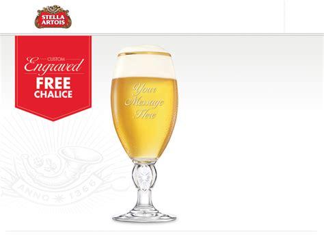 Stella Artois Sweepstakes - free stella artois custom engraved chalice