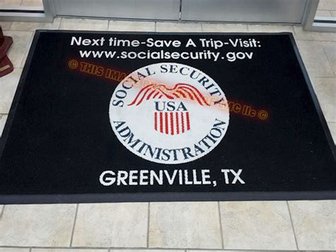 Social Security Office Greenville logo mat central custom logo mat sles image gallery page 03