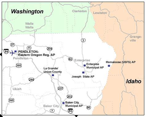 map of union oregon northeast oregon airports tripcheck oregon traveler