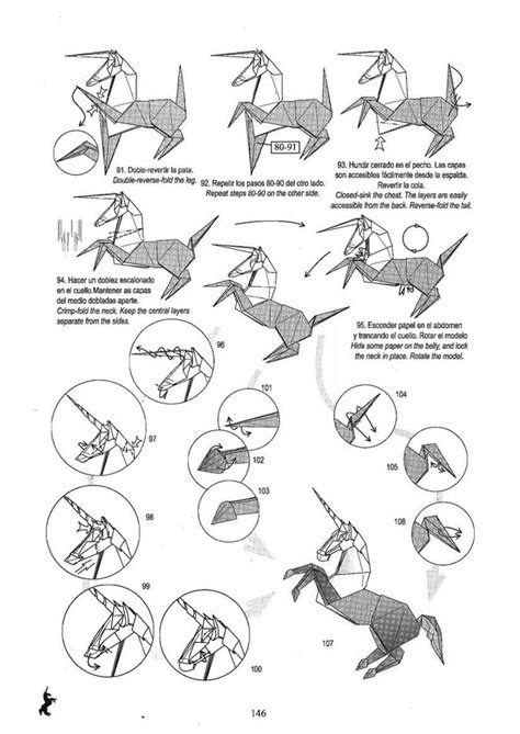 Origami Unicorn Diagram - 226 best images about origami on simple