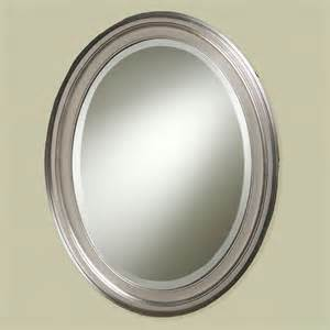 nickel bathroom mirror loree brushed nickel finish oval wall mirror