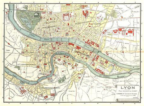 carte de lyon plan detaille des lieux interessants