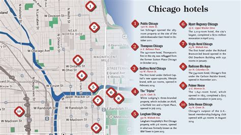 chicago hotel map windy city whirlwind chicago a hotel boomtown travel weekly