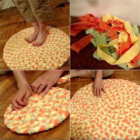 how to make a bathroom rug diy recycled bath towel rug