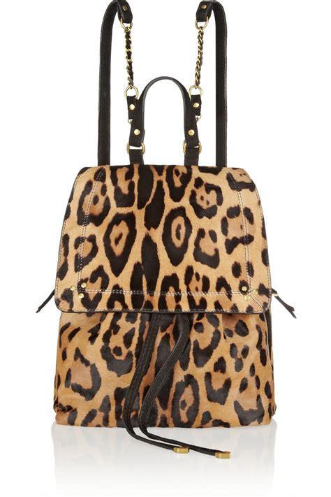 Leopard Print Backpack j 233 r 244 me dreyfuss florent leopardprint calf hair backpack lyst