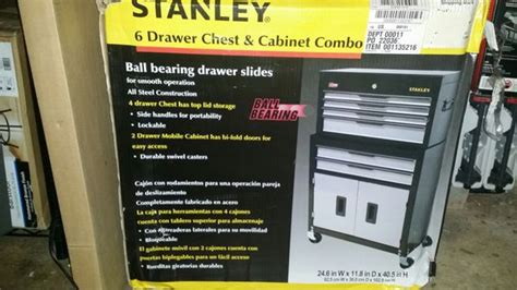 Stanley Professional Tool Chest Cabinet Combo 6 Drw by Stanley Professional Tool Chest Cabinet Combo 6 Drawer