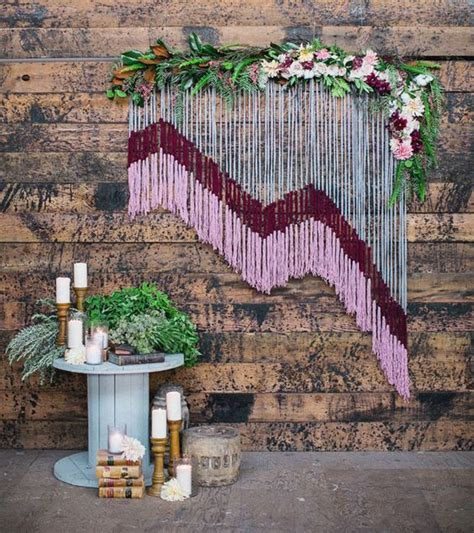 Yarn Wedding Backdrop by Yarn Wedding Backdrop With Floral Accents Deer Pearl Flowers