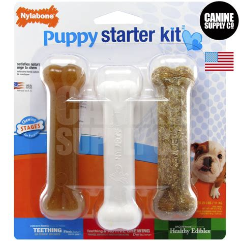 puppy kit nylabone puppy starter kit pack puppy chew toys puppies up to 25 lbs ebay