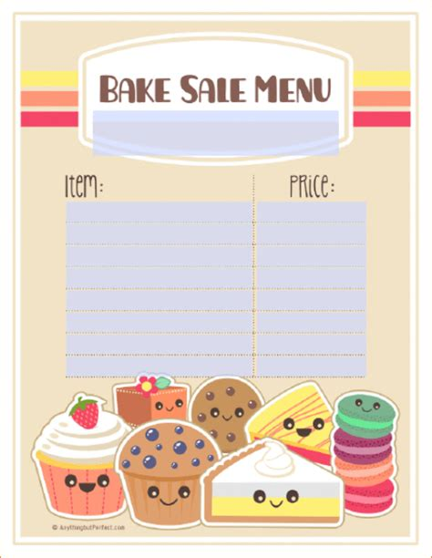 bake sale template bake sale labels template pictures to pin on