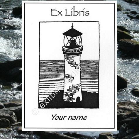imprinted magic ex libris books booklabels lighthouse 25 personalized ex libris bookplates