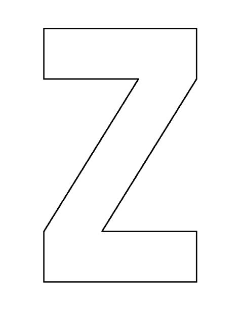 printable z template letter z pattern use the printable outline for crafts