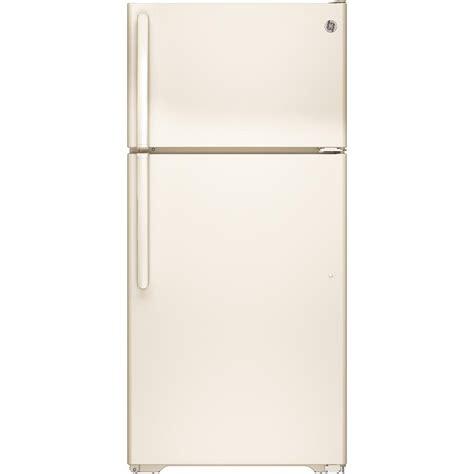 refrigerators parts colored refrigerators ge 14 6 cu ft top freezer refrigerator in bisque