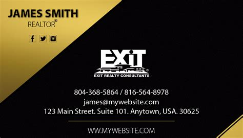 exit realty business cards template exit realty business card 19 exit realty business card