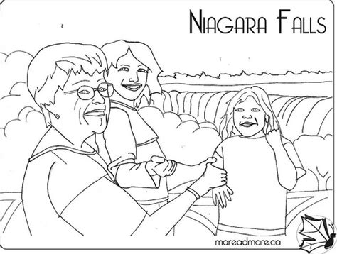 coloring page of niagara falls niagara free colouring pages