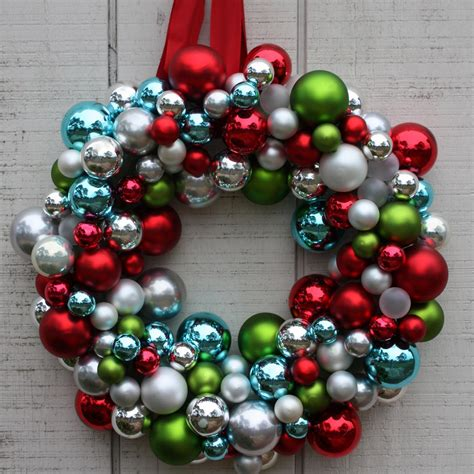 christmas ornament wreath deck the halls 12 diy holiday