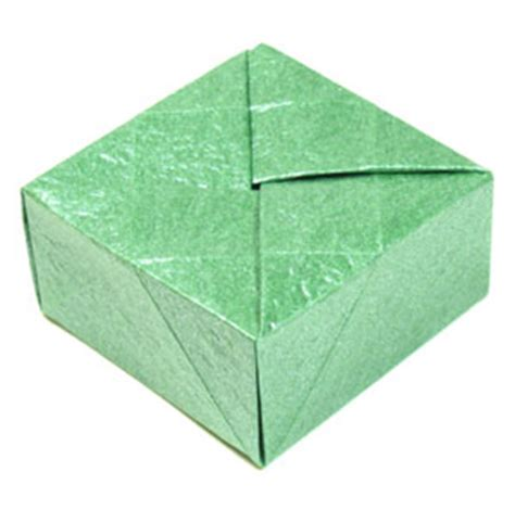 Big Origami Box - how to make a closed square origami box page 1