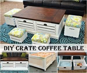 Diy Coffee Table Crates Diy Crate Coffee Table The Diy