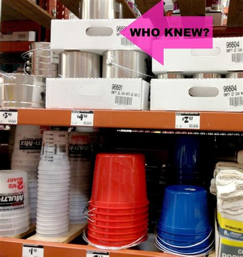 at home depot empty paint cans the gallon cans are about 4 and the quart cans are about 2