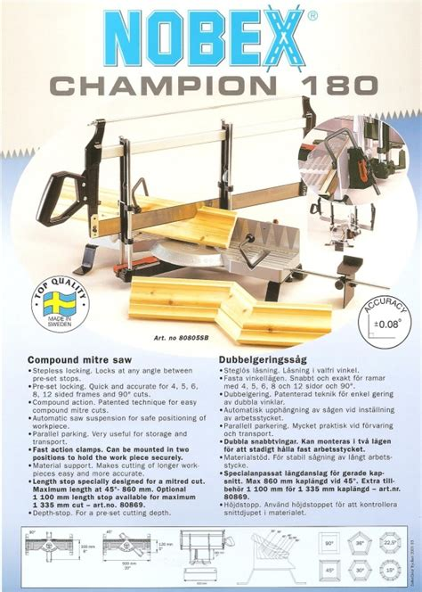 The Valley Woodworker The Nobex Champion Model 180 Miter Box
